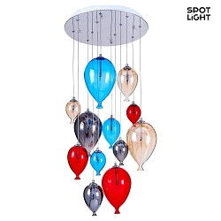 Pendelleuchte BALLOON 12-flammig, 20W, G4, multicolor