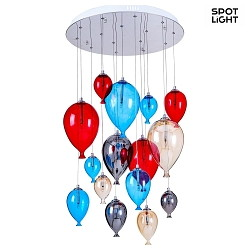 Pendelleuchte BALLOON 15-flammig, 20W, G4, multicolor