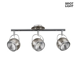Deckenleuchte BALL LED Balken 3-flammig, GU10, Nickel matt