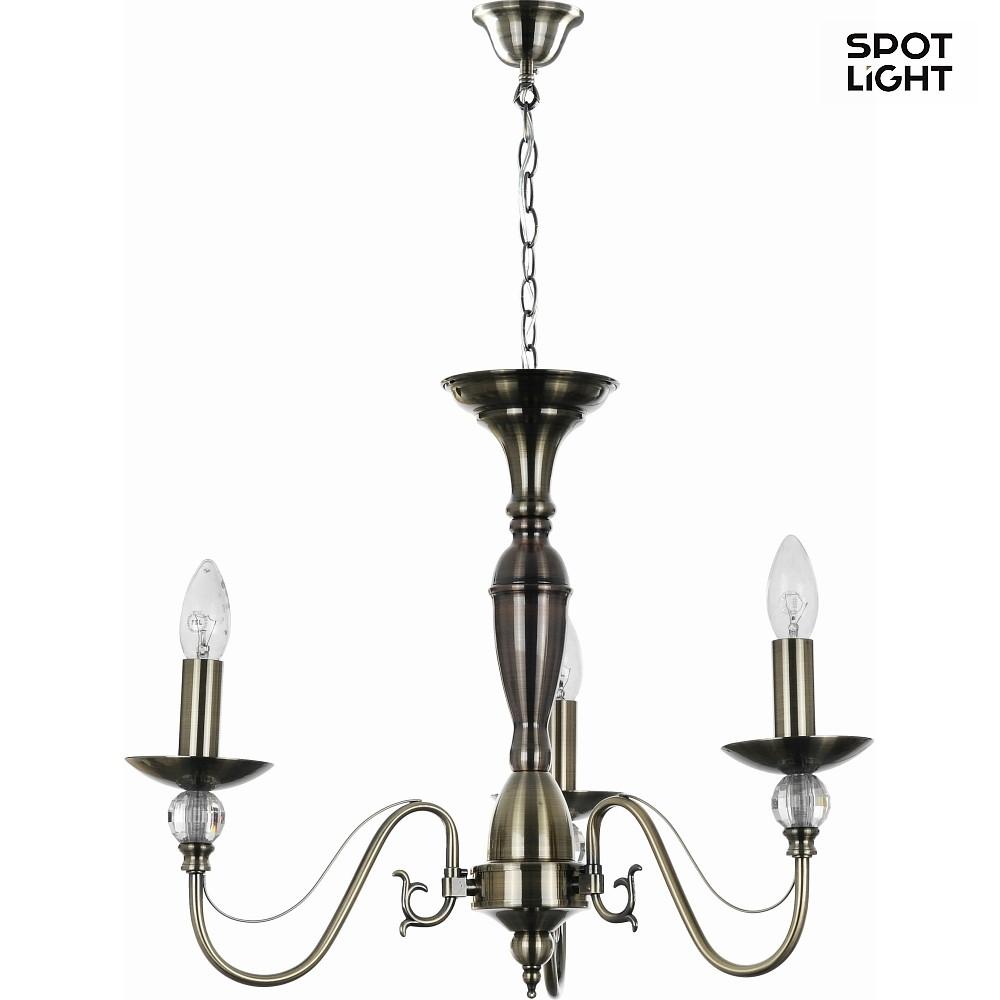 kronleuchter garda 3 flammig e14 altmessing. Black Bedroom Furniture Sets. Home Design Ideas
