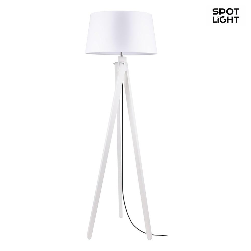 Bezaubernd Stehleuchte Weiß Ideen Von Rune, 155cm, E27, Eiche Weiß, Schirm Weiß,